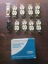 (9) NEW OLD STOCK LEVITON 2650-I (IVORY) 2P 3 WIRE NEMA 5-15R 15 AMP 125V