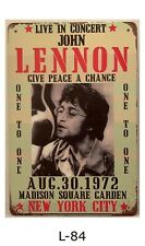 Tin Sign John Lennon The Beatles English Rock Band Retro Metal Signs Plaques