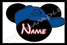4x6 Disney Cruise Stateroom Door Magnet - BASEBALL MICKEY - Personalized