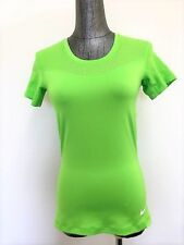 NIKE Women's Pro Hypercool Training Shirt Lime Green 725714-313 Size Medium