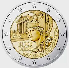 2 Euro austria 2018 commemorativo centenario repubblica fdc *LEGGERE DESCRIZIONE