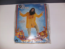 THE LOVE GURU HIPPIE MEN HALLOWEEN COSTUME TUNIC AND LEI ONLY 42-46 CHEST SIZE