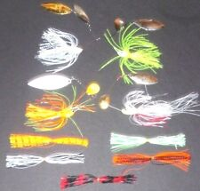Manufacturer's Mix 1/2-3/4 Spinner Bait Package (Lot of 4+5 Extra Skirts-SB9)