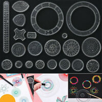 22x Spirograph Geometric Ruler Drafting Tools Stationery Drawing Toys Set
