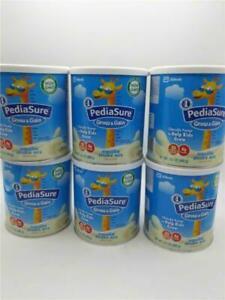 6 PACK PediaSure Grow & Gain Vanilla Shake Mix, Nutrition Shake For Kids 10/1/20
