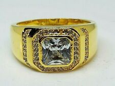 2CT 5A Zircon Cz Yellow Gold Filled Ring Size 10