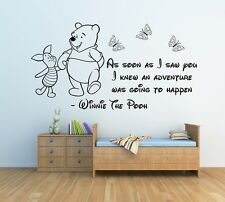 Winnie the Pooh Quote Custom Personalised Wall Decal Sticker Nursery Bedroom ar