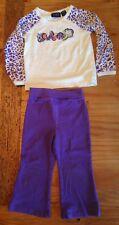 Children's Place Purple Pants & Long Sleeve Shirt! Cutie Leopard Print 24 Months