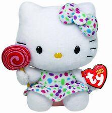 Peluche Hello Kitty con Piruleta - Original Marca Ty Sanrio Juguete Niños Kity