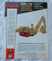 Case 310E loader backhoe specification sheet brochure