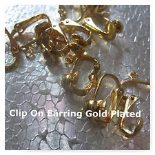 Clip On Earring Hooks 5pr Gold Plated Jewelry Finding Craft Supply EarClip
