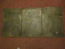 VINTAGE SLATE ROOF SHINGLES 12 x 18 ART PAINTING DECO  FARMHOUSE SET of 3