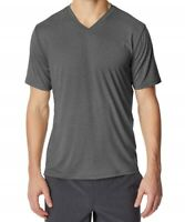 32 Degrees 159143 Men's V Neck Short Sleeve Charcoal Regular Fit Shirt Size XXL