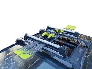 Slideable Alloy Ski Snow Board Carrier Holders Roof Rack Mounted Lockable