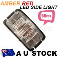 50X 12V  RED AMBER LED Side Light Marker Trailer Truck Turn Lamp 12V DC AU ship