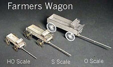 FARMER'S WAGON O On30 Scale Model Railroad Structure Unptd Wood Laser Kit GMFWO