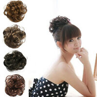Girl  Ponytail Holders Scrunchy Piece Bun Pony Tail Extensions Hairpiece