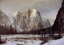 """Huge Oil painting nice landscape Cathedral Rock Yosemite Valley California 36"""""""