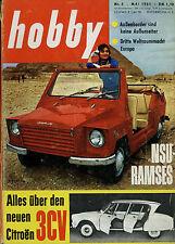 hobby 5/61 1961 Bell D188A Bluebird Campbell Citroën Ami 6 NSU Ramses VW Käfer