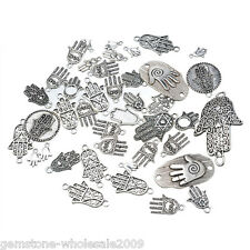 20PCS Wholesale W09  Mixed Silver Hand of Fatima Pendants  Charm Jewelry