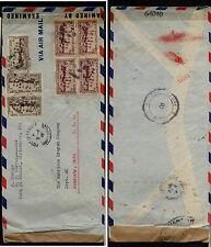 Martinique  141 (4), 168 (3)  on double censor cover to  US        MS0128