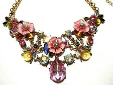 *NEW*  BETSEY JOHNSON  FLOWERS AND BLING STATEMENT NECKLACE