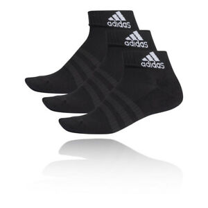 adidas Mens Cushioned Ankle Socks - Black Sports Running Breathable Lightweight