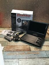 "Sylvania 9"" Portable DVD Player Black- Used-READ"