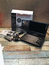 "Sylvania 9"" Portable Dvd Player Black- Used-Read"