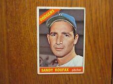SANDY  KOUFAX  Dodger Legend 1966  Topps  Baseball  Card (Card  #100)(Last Card)
