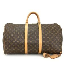 100% Authentic Louis Vuitton Monogram Keepall 55 Boston Travel Hand Bag /p754