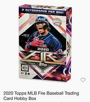 2020 Topps MLB Fire Baseball Trading Card Hobby Box *2 Autos per Box (NEW)