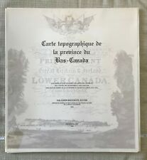 XXL 11.5x5 ft Topographic map of the province of Lower Canada