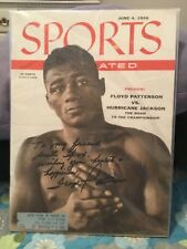 FLOYD PATTERSON SIGNED 1956 SPORTS ILLUSTRATED/BOXING HEAVEYWEIGHT CHAMPION