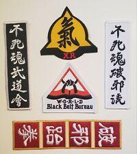 New Assorted Martial Arts Black Belt Bureau Asian Patches Iron ON