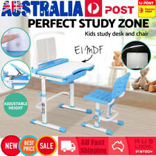 Adjustable Height Children's Writing Desk & Chair Set with Lamp Kids Study Table