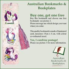 Unicorns Reading bookmark, tassel (1063) Buy one, get a free zodiac bookmark