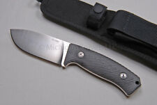 Lionsteel Knife - M3 MI Hunter w/ Niolox Tool Steel (Satin) & Black Micarta