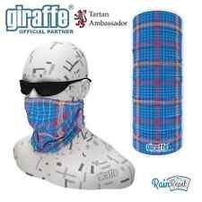 Blue Xmas Scottish Tartan Multifunctional Headwear Neckwarmer Snood Bandana
