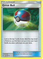 POKEMON SUN & MOON CARD: GREAT BALL - 119/149