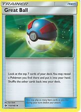 POKEMON SUN & MOON CARD: GREAT BALL - 119/149