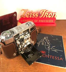 ZEISS IKON Contessa 35mm rangefinder camera, case and manual. Excellent!
