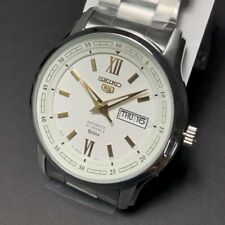 SEIKO 5 SNKP15 SNKP15J1 21 Jewels  White Dial Silver Stainless Steel Japan Made