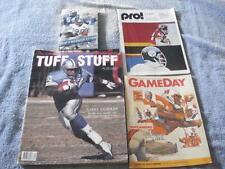 VTG LOT OF 4 DETROIT LIONS PROGRAMS & MEDIA GUIDE(1994,1990,1983,1973)+10 CARDS