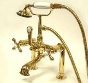 New Clawfoot Tub Faucet Polished Brass  CC109T2