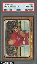 1966 Topps Hockey #104 Bruce MacGregor Detroit Red Wings PSA 8 NM-MT