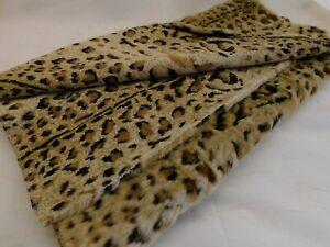 Faux Fur Fabric Leopard Tiger Brown Beige Stuffed Toy Apparel Bear 22L 64W