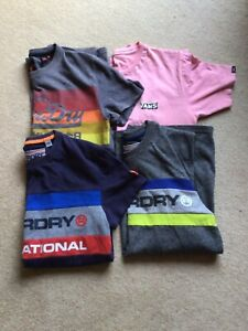Superdry & Vans Men's Long & Short Sleeved T Shirt bundle size S Small