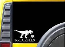 "T-Rex rules J791 6"" Sticker decal dinosaur"