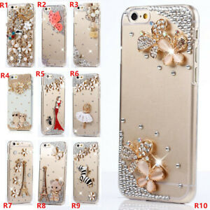 Girls' Glitter Jewelled Bling Crystal Diamonds Soft gel Phone Case Cover For LG